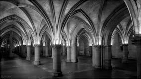 Hall of the Men At Arms, Conciergerie, Paris Stock Images