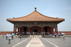 The Hall of Middle Harmony in the Forbidden City, Beijing, China Stock Image