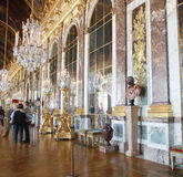 Hall of mirrors. Interior decor from inside Versailles - Hall of Mirrors, France royalty free stock images