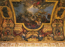 Hall of Mirrors ceiling Versailles Palace Stock Photo