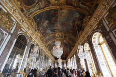 Hall of mirrors full of tourists in the P Royalty Free Stock Photos
