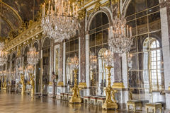 Hall of Mirrors at the Palace of Versailles. The Hall of Mirrors inside of the Palace of Versailles at France stock images