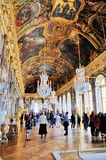 Hall of Mirrors, Versailles. The richly decorated hall of mirrors in the palace of Versailles near Paris, France stock photo