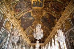 Hall of mirrors in Versailles royalty free stock photos