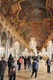 Hall of mirrors, Versailles chateau, Paris, France Royalty Free Stock Photo