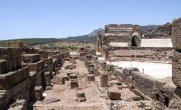 Hall mit Steinen im römischen Forum stockbild