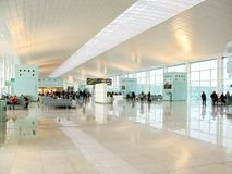 Hall of a modern airport Stock Images