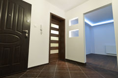Hall of the modern apartment. Hall view for modern apartment interior Stock Photos