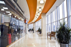 Hall of a modern business centre Royalty Free Stock Images