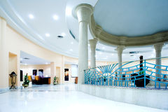 Hall in modern hotel Royalty Free Stock Images