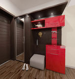 Hall modern style interior design, 3D render Royalty Free Stock Photography