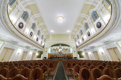 Hall of the Moscow Tchaikovsky Conservatory Stock Photos