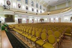 Hall Moskwa Tchaikovsky konserwatorium Obrazy Royalty Free
