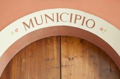 Hall municipal de Bologna imolese de dozza image stock