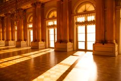 Hall in the museum. Sunlight. Royalty Free Stock Image