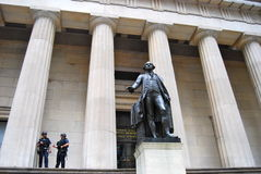 Hall National Memorial federale su Wall Street, NYC Fotografia Stock
