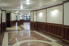Hall of new elit home. First floor of living building in the center of town. Moscow, Russia Royalty Free Stock Photos