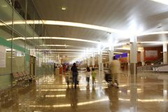 Hall of new terminal of Airport Sheremetyevo Stock Photography