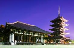 Berömdt tempel av Nara, Japan Arkivfoton