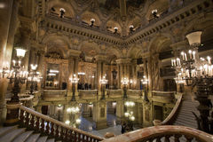 Hall of Opera Garnier in Paris France Stock Photography