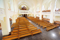 Hall and organ in Evangelical Lutheran Cathedral Stock Photography