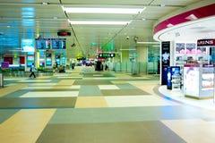 Hall på Changi den internationella flygplatsen Fotografering för Bildbyråer