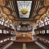Hall på den palauiska de la musica catalanaen, Barcelona, Spanien, 2014 fotografering för bildbyråer
