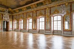 Hall in a palace. Ball hall in a palace Royalty Free Stock Photography