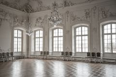 Hall in a palace. Ball hall in a palace Stock Image