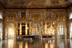 Hall palace interior in Pushkin. Saint-petersburg Russia Royalty Free Stock Photography