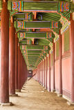 The hall in the palace in Korea. The hall in the palace of ancient Korea Stock Image