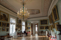 The hall of the palace in Pavlovsk Royalty Free Stock Photography