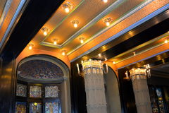 Hall in the Palast of Culture in Targu-Mures, Romania Royalty Free Stock Photos