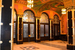 Hall of the Palast of Culture in Targu-Mures, Romania Stock Image
