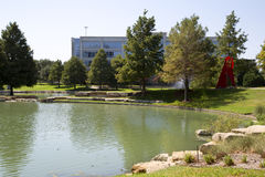 Hall Park na cidade Frisco Texas imagem de stock royalty free