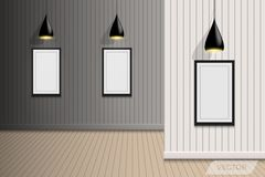 Hall photographique de galerie et conception décorative, vecteur, Illust illustration libre de droits