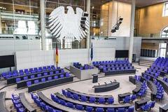 Hall plénier du Parlement allemand Bundestag à Berlin Photo libre de droits