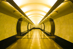 Hall platform. Yellow abstract hall platform with light Royalty Free Stock Photos