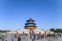 The Hall of Prayer for Good Harvest. In October 2012,some tourists visited to the Hall of Prayer for Good Harvest in the Beijing of China Stock Images