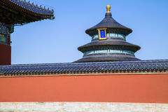 The Hall of Prayer for Good Harvest. In October 2012,some tourists visited to the Hall of Prayer for Good Harvest in the Beijing of China Royalty Free Stock Images