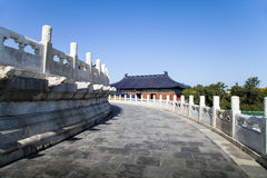 The Hall of Prayer for Good Harvest. In October 2012,some tourists visited to the Hall of Prayer for Good Harvest in the Beijing of China Royalty Free Stock Photo