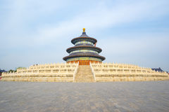 Hall of Prayer for Good Harvests in Temple of Heaven in Beijing Royalty Free Stock Photos