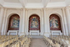 Hall for prayers in Sanctuary Fatima. Royalty Free Stock Images