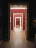 Hall prespective with doors Royalty Free Stock Photos