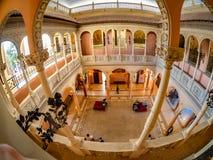 Hall principal de réception de la famille royale de Rothschild en France images libres de droits