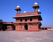 Hall of private audience, Fatehpur Sikri, India. stock photo