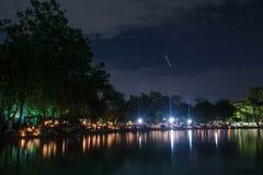 Hall Ratchamongkhon Suan Luang Rama 9 Park and Botanical Garden is the largest in Bangkok Stock Photo