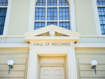 Hall of Records. Napa County, California stock image