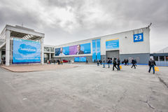 Hall of Salesforce company at CeBIT Royalty Free Stock Images