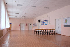 Hall in a school Royalty Free Stock Photo